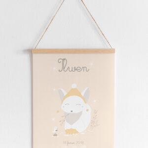affiche A4 eivor le renard polaire personnalisable