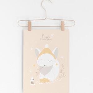 affiche A4 eivor le renard polaire