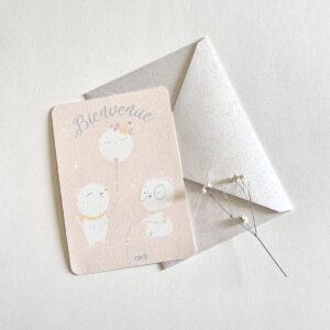 carte naissance message oursons polaires